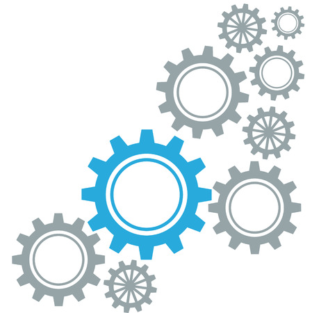 Gears Border Graphics on White Background