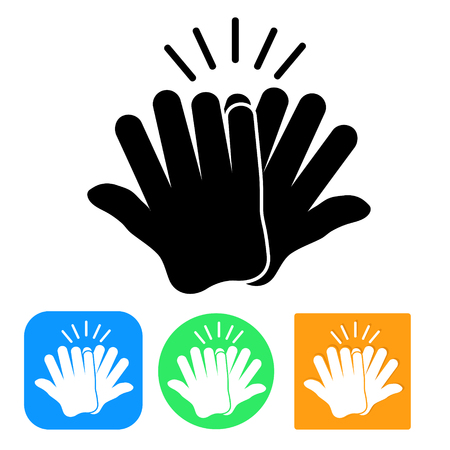 Set of High Four Icon, stock vector illustration