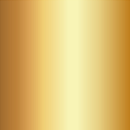 Realistic gold foil texture background. Yellow vector elegant, shiny and metal gradient template for golden border, gold frame, ribbon design.