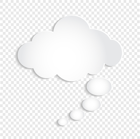 White Thought Bubble Cloud on Transparent Background, stock vector illustration Vector Illustratie