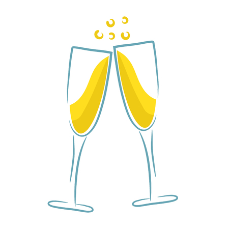 sfondo del menu del partito di design bicchiere di champagne, illustrazione vettoriale d'archivio