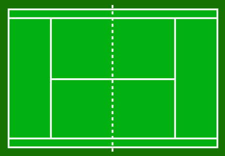 Tennis court. Field isolated on white background, stock vector illustration