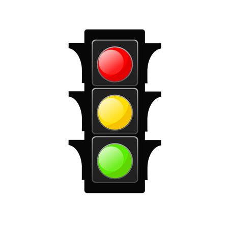 Traffic Light Vector Icon on White, stock vector illustration
