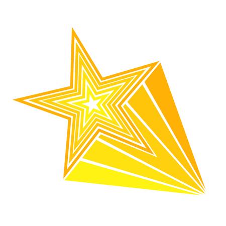 Retro cartoon pop art comic style shooting star. Vector illustration, eps 10 Illustration