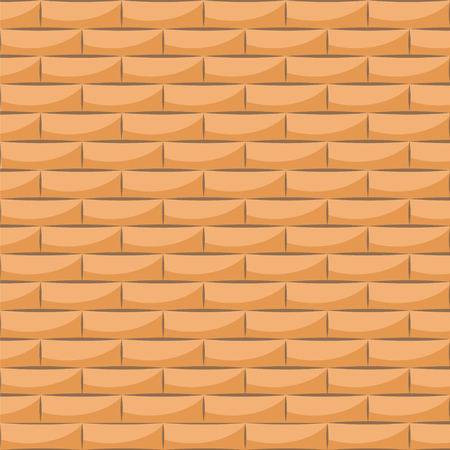 Ceramic white brick tile wall. Vector illustration. Eps 10