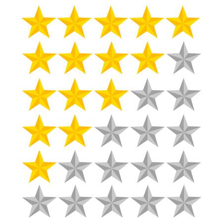 5 star rating. Vector illustration eps10. Isolated badge for website or app - stock infographics Ilustração
