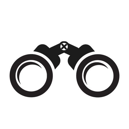 binoculars icon on white, stock vector illustration