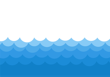 ocean waves template background vector stock illustration royalty