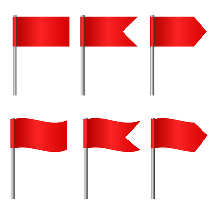 Vector illustration of flags set Illustration