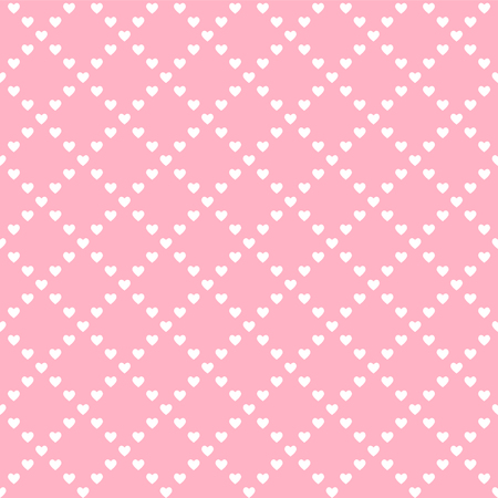 pink romantic heart background, seamless vector illustration 写真素材 - 125353923