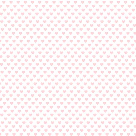 romantic pink heart background, seamless vector illustration Çizim