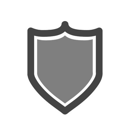 Vector shield icon. Security vector icon. Protection icon. Shield vector icon. Çizim