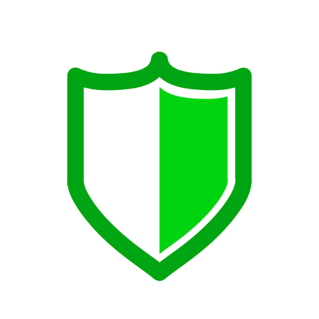 Vector green shield icon. Security vector icon. Protection icon. Shield vector icon.