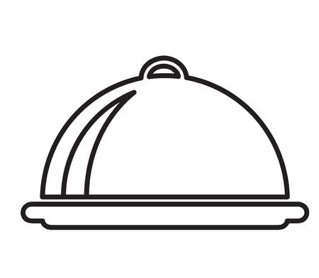 waiter tray icon, stock vector illustration Çizim