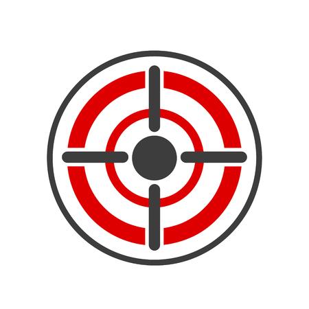icon target in flat design, stock vector illustration