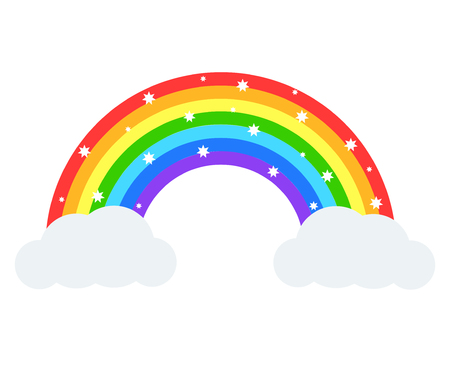 Beautiful rainbow illustration. Vector icon. Illustration