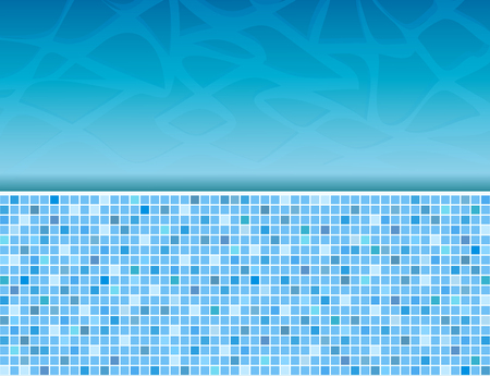 Swimming pool and tile ideal for backgrounds, stock vector illustration