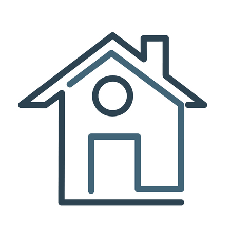 Modern house symbol icon, flat vector illustration 矢量图像