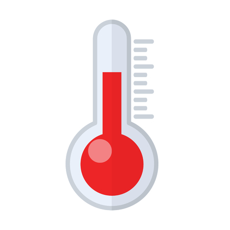 Vector thermometer web icon, stock illustration