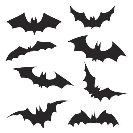 Satz von Handzeichnung Halloween-Fledermäuse, Vektorgrafik-Design-Fot-Grußkarte auf Lager