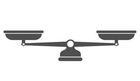 Scales, Flat design, Libra, vector illustration isolated on white background Archivio Fotografico - 125057403
