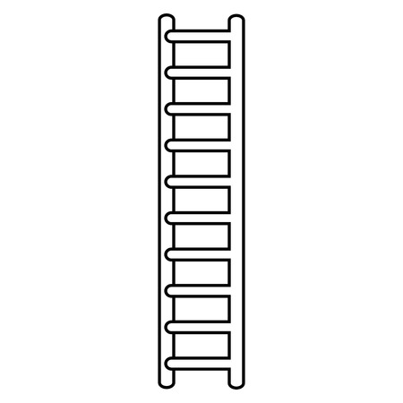 wooden stairs isolated icon on white, stock vector illustration Ilustração
