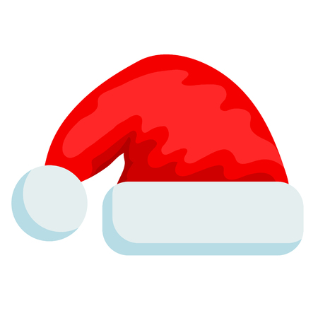 merry christmas hat icon on white, stock vector illustration Stockfoto - 124971458