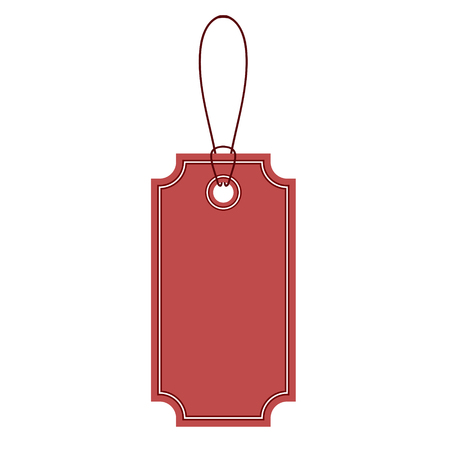 red label tag design icon on white, stock vector illustration