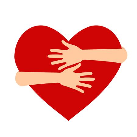 Ilustración de vector sobre el tema del Día Nacional del Abrazo