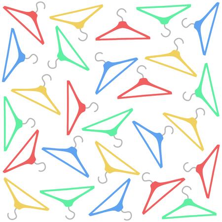 colorful clothing hanger pattern seamless, vector illustration design