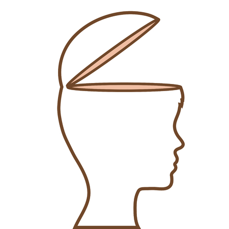 profile human with open mind vector illustration design Illustration