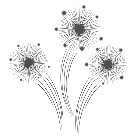 holiday celebrate firework design icon on white, stock vector illustration Ilustracja