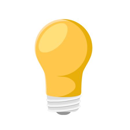 Colorful lightbulb icon on white, stock vector illustration Ilustração