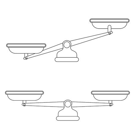 Scales, Flat design, Libra, vector illustration isolated on white background Vektorgrafik