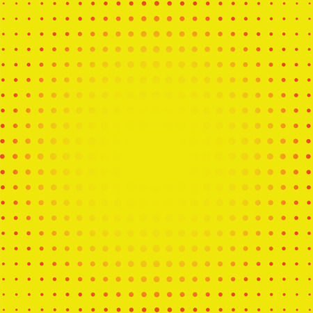 Yellow Dotty Retro Comic Book Style Background, pop art vector illustration Ilustração