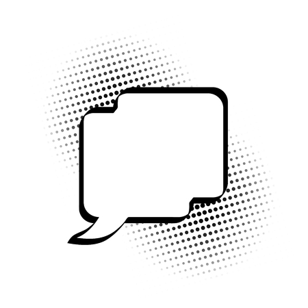 Cartoon, Comic Speech Bubbles, Empty Dialog Clouds with Halftone Dot Background in Pop Art Style. Vector Illustration for Comics Book , Social Media Banners, Promotional Material Ilustração