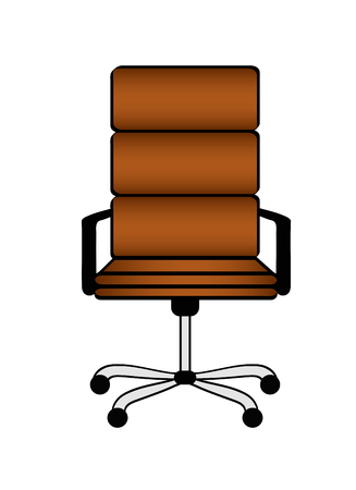 Empty brown office chair on white. Business hiring and recruiting concept. Stock vector illustration. eps10 Illustration