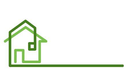 Real Estate Logo, house on white, stock vector illustration Ilustrace