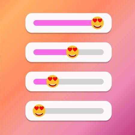 Set of slider smile for social media. Vector illustration Ilustrace
