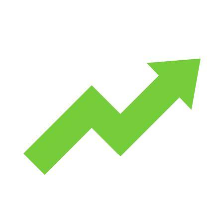 arrow growth graphic icon vector illustration design