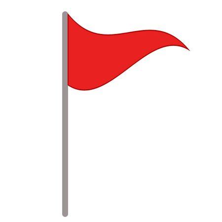 red flag marker on white, stock vector illustration Ilustrace