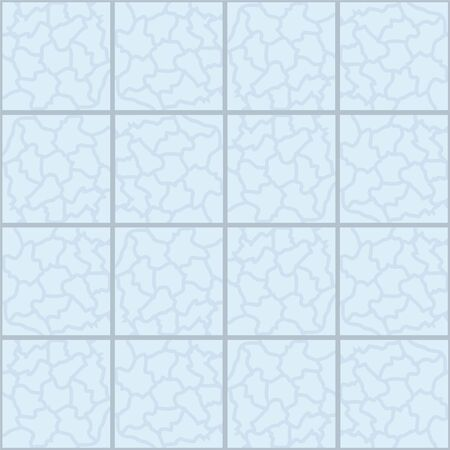 Blue marble ceramic tile seamless pattern. Vector background.
