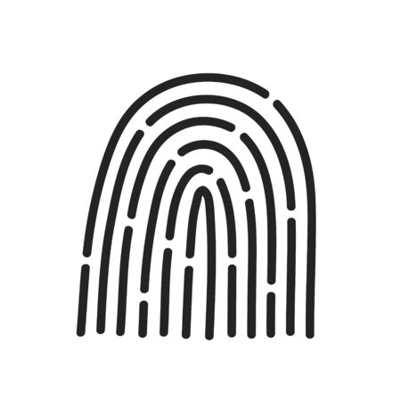 Touch ID. Fingerprint recognition. ID app icon. Vector illustration Ilustrace