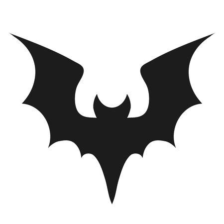 Silhouette de chauve-souris vampire. Décoration de chauves-souris d'Halloween, souris flottante de la grotte et animal effrayant à l'arrière de la souris, silhouettes de vecteur de forme de vol de la faune nocturne de vacances nocturnes isolées collection d'icônes