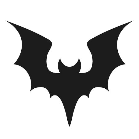 Vampire bat silhouette. Halloween bats decoration, hanging cave flittermouse and scary rearmouse animal, nocturnal holiday night wildlife flight shape vector silhouettes isolated icon collection