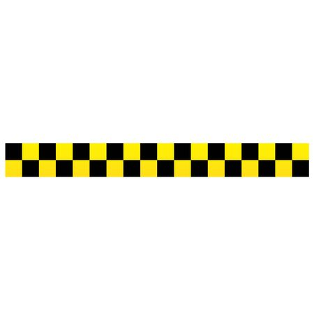Black and yellow police stripe border, construction, danger caution seamless tapes vector