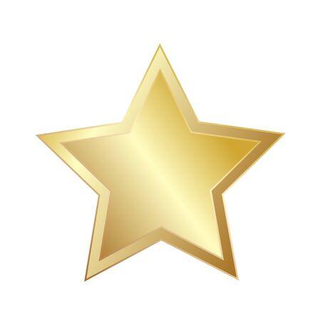 Star Sparkling Shining Golden for greeting card design, stock vector illustration Vektorové ilustrace