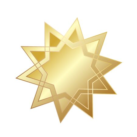 Star Sparkling Shining Golden for greeting card design, stock vector illustration