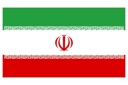 Iran flag vector template background realistic copy