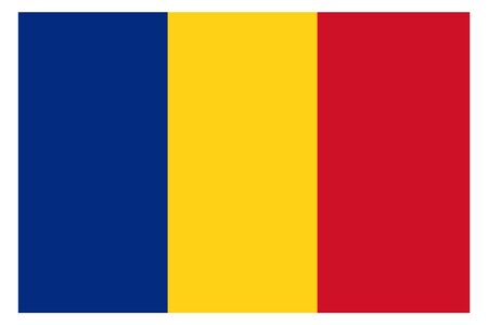 Romania flag vector template background realistic copy